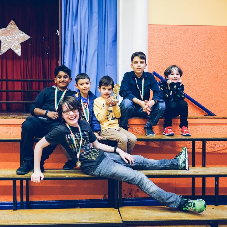 Vishal, Kian, Arsen, Darius, James and Darragh